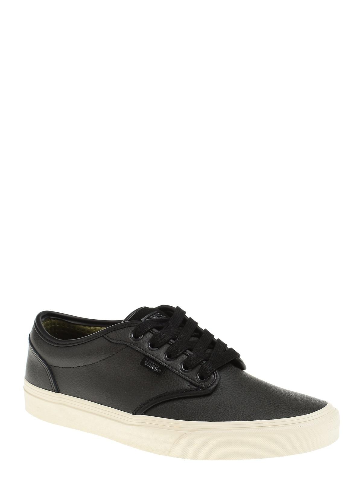 74b4c923ca1 Vans Erkek Atwood (Leather) Black Turtledove